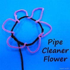 "Pipe-cleaner flower ("",)"