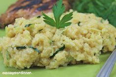 Cheesy Zucchini Rice ( You can substitute with Vegan cheese)