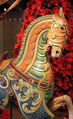 magnificent vintage carousel horse