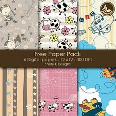 Free digital scrapbook backgrounds (for personal use)