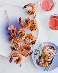 Garlicky Grilled Shrimp Recipe on Food & Wine