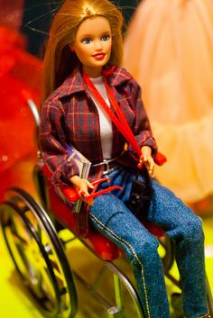 Barbie in a Wheelchair.  Great message for girls with disabilities or any girl for that matter!