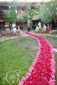 GORGEOUS #rose #petal #aisle