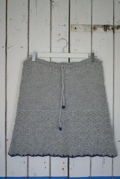 handmade crochet & knit skirt