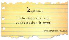 definitions | Fun Definitions - k