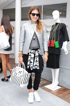 NYLON Magazine editor Dani Stahl rocks Gap black denim at New York Fashion Week. #DressNormal #GapxBFA #nyfw Photo cred: BFA