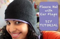 Crafty Gemini: Fleece Hat with ear flaps- DIY TUTORIAL