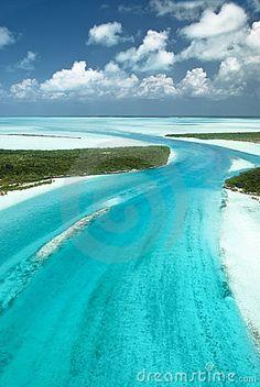 Caribbean ocean and tropical islands. The Beautiful Bahamas