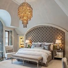 grey bedrooms, country houses, beds, headboards, dream