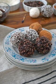 Coconut chocolate truffles