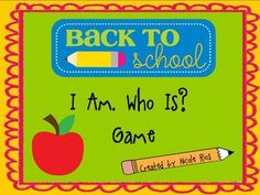 """It's never too early to start thinking about next school year! Based on the popular """"I Have, Who Has"""" game, this activity card set is a great opportunity for everyone to learn each others name during the first week of school."""
