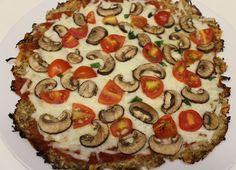 Eggplant Crust Veggie Pizza (low carb)