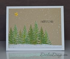 Festival of Trees - lots of texture on this card.  Video tutorial included.