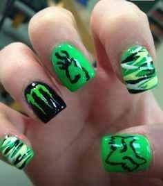Browning, Monster, Camo, Fox, Country Nails!!
