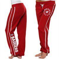 Wisconsin Badgers Ladies Cardinal School Daze Pants  #Fanatics