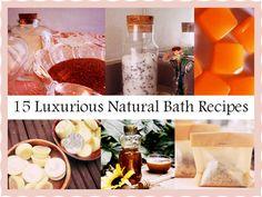 15 Luxurious Natural Bath Recipes
