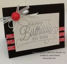 Thursday, April 3, 2014 Jan Girl: Stampin' Up Another Great Year Birthday card