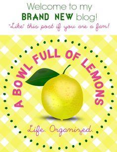 A Bowl Full of Lemons NEW BLOG!!