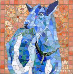 Goat mosaic by Jennifer Kuhns