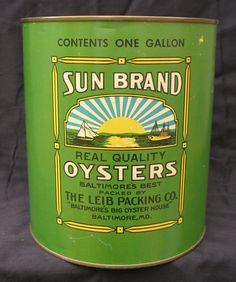 Sun Brand Oysters Tin —
