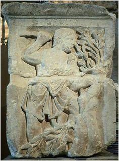 The Celtic deity Esus as represented on Le pilier des Nautes (Musée National du Moyen Age, Thermes de Cluny)