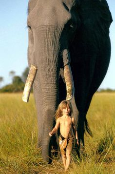 elephants, little girls, real life, children, young girl, africa, friend, animal, kid