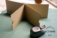 """Mini en kraft avec une seule page 30x30  Hobby di Carta - Il blog: MINIALBUM: """"about me"""" by Silva"""