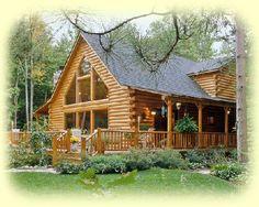 Log home design, I love this!