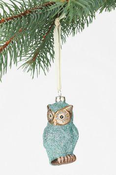 Glitter Owl Ornament  #UrbanOutfitters