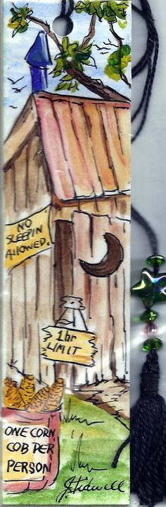 Ye ole Out House Book marker