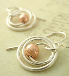 Cute little silver earrings - So easy to do.
