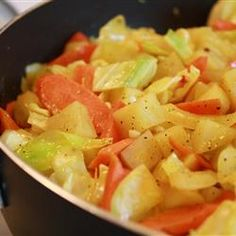 Ethiopian Cabbage Dish -   My Ethiopian friend brought this dish to a potluck and I've been making it ever since. It is healthy and delicious. Do not add liquid. The cabbage and potatoes release enough moisture on their own