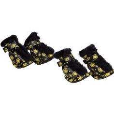 Pet Life Ultra Fur Comfort Year-Round Protective Boots in Yellow & Black - Medium $23.83