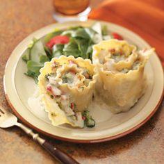 Chicken Lasagna Rolls