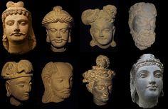 Gandhara Heads. - Greco-Buddhist art
