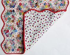 Scrappy grandmother's garden quilt