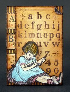 A Very Vintage Child ATC by As Always Angela, via Flickr
