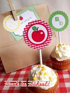 Bird's Party Blog: FREEBIES: Back to School Party and Printable Goodies