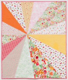 "Cherie, author of the blog You & Mie, has a tutorial for this ""Sunburst Picnic Blanket.""  Shown in the 2013 Clementine collection at Dear Stella Design."