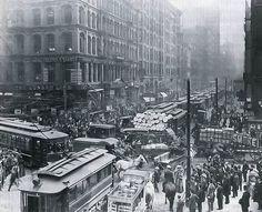 rush hour. 1909.