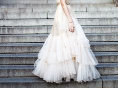 wedding dressses, fashion, polka dots, tulle skirts, ruffl, style, weddings, gowns, dresses