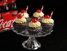 cherri cola, cola cupcak