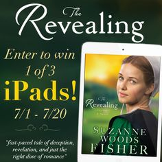 """Suzanne Woods Fisher is celebrating the release of """"The Revealing"""" by giving away THREE iPads and EIGHT sets of the Inn at Eagle Hill series! Click for details!"""