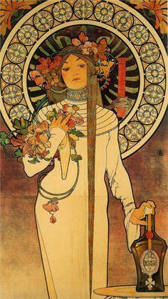 Alphonse Mucha, The Trappistine, 1897