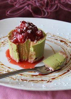 Hmmm...Avocado vanilla cheesecake