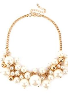 Pearl and Gold Bubble Necklace