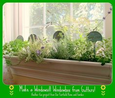 DIY ~ Windowsill Windowboxes From Gutters!