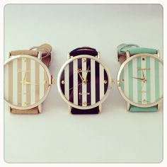 Striped watches.