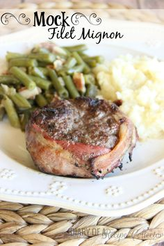 Mock Filet Mignon - Family-friendly and budget-friendly mock filet mignons are easy yet fancy and won't break the bank...