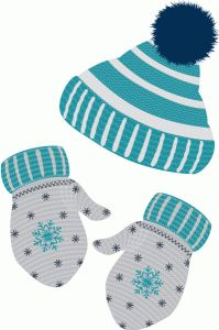 WINTER HAT AND MITTENS CLIP ART More